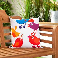 Oiseau Chanson toile imperméable jardin extérieur scatter coussin remplis imprimé