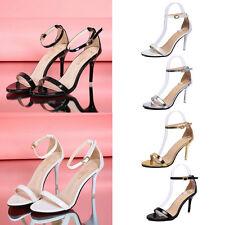 Women Ladies Summer High Heel Shoes Sandals Peep Toe Buckle Sandals Bridal AU2-5