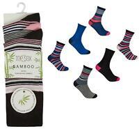 Womens Ladies Top Sox Soft Natural Bamboo Socks 6 or 12 Pairs