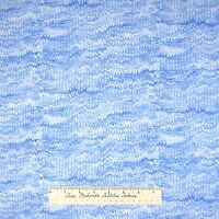 Christmas Fabric - Ice Ribbon Feather Light Frost Blue - Timeless Treasures YARD