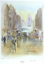 "DOUGLAS WEST ""Fleet Street"" london LIMITED SIGNED! SIZE:47cm x 36cm SEE OUR SHOP"