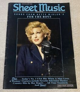 "Sheet Music Magazine: March/April 1992 - Bette Midler ""For the Boys"""