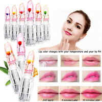 6 Flower Lipstick Colors Jelly Transparent Magic Changing Lip Temperature Change