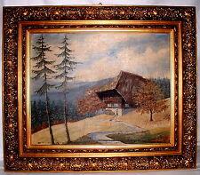 Ölgemälde Schwarzwaldhaus mit Prunkrahmen sign.und datiert A.F.Ziegelmüller 47