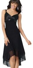 Ruby Rox Black Tea Length Gown Prom Dress With Black Satin Sequins Top Black  M