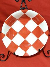 """Royal Stafford Red """"Chequers"""" Soup / Cereal / Salad Bowls NEW"""