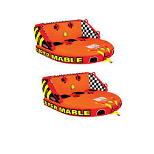 Airhead SPORTSSTUFF Super Mable Triple Rider Lake Boat Towable Tube (2 Pack)