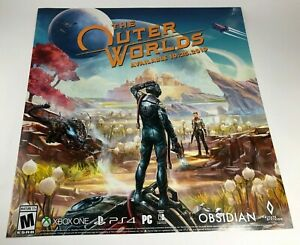 """The Outer Worlds Promotional Promo Display Poster 24"""" x 25"""" Xbox One PS4 Switch"""