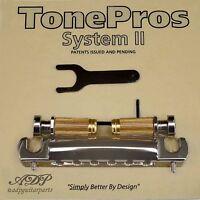 TonePros VTNA-N Cordier-Chevalet Vintage Aluminum 50's Wraparound Bridge NIickel