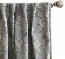 *Sun Zero Mayfair Room-Darkening Rod-Pocket/Back-Tab Curtain Panel 54Wx84L Grey