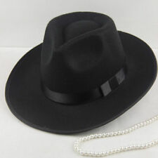 Moda Hombres Vintage mujeres sombrero de fieltro Fedora Sombrero de ala ancha