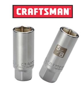"""New Craftsman Spark Plug Socket 3/8"""" Dr. 5/8"""", 3/4"""" , 13/16"""", 18mm Fast Shipping"""