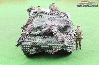 Top ! Bundeswehr Tarnnetz Modellbau Panzer Leopard  1:16 Flecktarnung 32x 32 cm