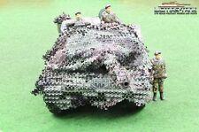 Bundeswehr Tarnnetz Modellbau Panzer Leopard im Maßstab 1:16 Flecktarnung