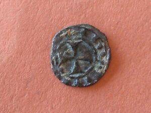 Crusaders-Medieval Era,Silver coin circa 1200 AD 0,6g-15mm *RARE*