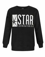 Flash TV STAR Laboratories Boy's Black Long Sleeve Sweatshirt