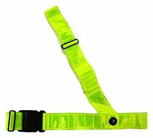 High Visibility Sam Brown Cross Body Belt  For Cycling, Running, Walking By Etc