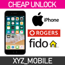 Unlock ROGERS FIDO Apple iPhone 7, 7+, 6s, 6s+, 6, 6+, SE, 5S, 5, 4S, 4, 3Gs