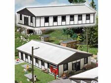 Busch 1392 Große Baracke Wohnheim Halle Speisesaal Echt Holz Bausatz H0 Neu