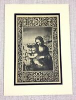 1927 Antique Print Virgin Mary and Jesus Christ Italian Art Old Master Painting