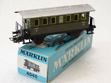 MARKLIN ( 4040 ) ANCIENNE VOITURE A ESSIEUX ENTIEREMENT METALIQUE EN BOITE HO