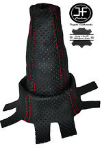 RED STITCHING FITS HONDA CIVIC 2006-2013  SHIFT BOOT PERFORATED LEATHER
