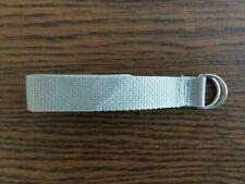 "New Football Belt Silver / gray / sliver 1"" web 48"" long"