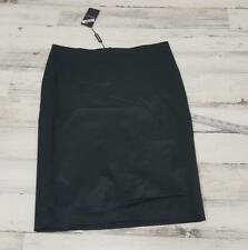 $195 Emporio Armani Women's Skirt NWT New Size Italy 46 Black Viscose Wool