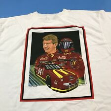 Vintage 1995 Bill Elliott Racing T Shirt Portrait Mc Donalds 94 Large Sam Bass