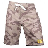 CAT Lifestyle LOGO BOARD Mens Holiday Casual Comfy Beach Swim Shorts Camouflage