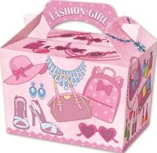 10 Fashion Girl Boxes - Toy Loot/Party Bag Lunch Wedding/Kids Food Meal Make Up