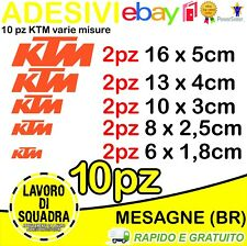 KIT 10 ADESIVI KTM VARIE MISURE RACING TEAM 950 DUKE ENDURO RALLY MOTOCROSS LC4