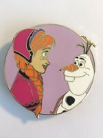 Anna And Olaf Frozen Happy Round Fantasy Pin LE 100
