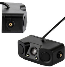 Car Rear View Camera with Radar Parking Sensor HD Rearview Camera Universal 12V