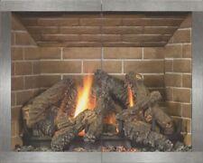 """Stoll Glass Fireplace Door Manhattan Pewter Hidden Frame All Glass  37.5"""" x 30"""""""