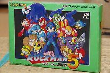 ROCKMAN 5 MEGA MAN Complete Famicom NES FC Japan Capcom NTSC 230