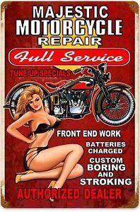 MOTOR BIKES Tin Metal Sign Rustic Look ..GARAGE- MAN CAVE . PUB- BAR-. AU SELLER