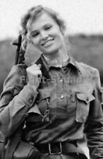 WW2 Picture Photo Russian female soldier during WWII 3183