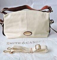 Smith & Canova Pebble Leather Tan/Cream One Strap Shoulder Cross Body Slouch Bag