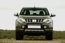 MITSUBISHI L200 BLACK AXLE NUDGE A-BAR BULL BAR GUARD 2020 ONWARDS