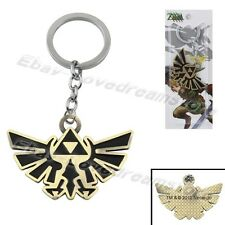 "The Legend of Zelda Gold Bird Emblem 10cm/4"" Metal Key Ring Chain New In Box"