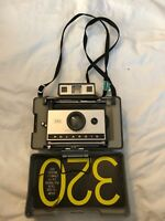Vintage Polaroid 320 Automatic Land Camera with Cover & Cold-Clip & Manual