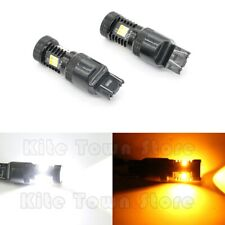 CANBUS 7443 7444NA CREE LED Dual Color Switchback Amber White Turn Signal Lights