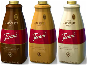 Torani 64 oz Dessert Flavoring Sauce Regular or Sugar Free (select flavor below)