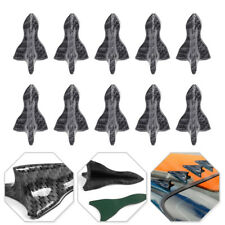 10pc Universal Carbon Fiber Car Shark Fin Diffuser Vortex Generator Spoiler Set