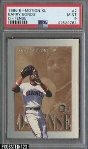 1996 E-Motion XL D-Fense #2/10 Barry Bonds San Francisco Giants PSA 9 MINT