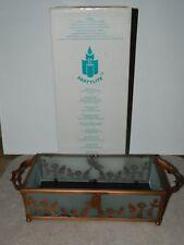 PartyLite Copper Lace Pillar Candle Holder Tray-P7204 Original Box New?
