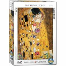 Gustav Klimt The Kiss 1000 Piece Jigsaw Puzzle by Eurographics