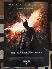 The Dark Knight Rises Original Movie Poster 27X40 Double Sided U.S. Final 2012
