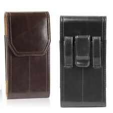 Vertical Leather Holster Pouch Belt Clip Case Cover for Samsung Note 9 + iPhone
